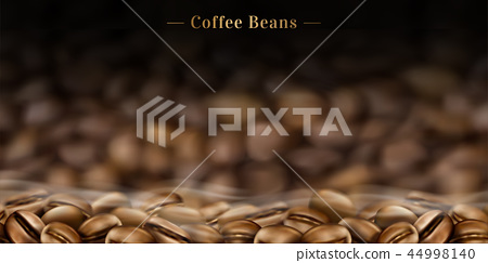 Hot coffee beans background 44998140