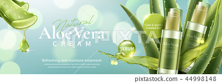Aloe vera cream and spray ad 44998148