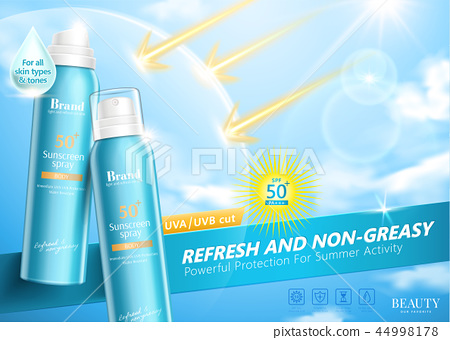 Sunscreen spray ads 44998178