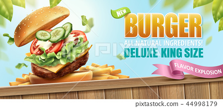 Deluxe king size burger ads 44998179