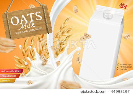 Oats milk ads with swirling liquid 44998197
