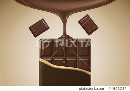 3d illustration chocolate bar 44998233