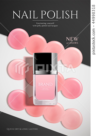 Fashion nail lacquer poster 44998318