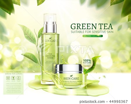 Green tea skincare ads 44998367