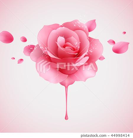 Pink glittering rose 44998414