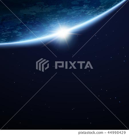 Beautiful Space Earth Background Stock Illustration 44998429 Pixta
