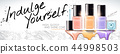 Colorful nail lacquer banner ads 44998503