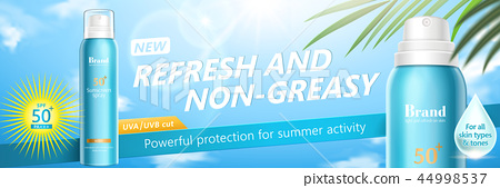 Summer sun spray banner ads 44998537