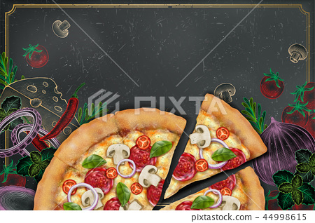 Savoury pizza ads 44998615