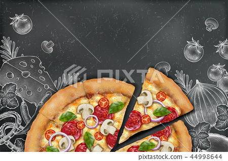 Savoury pizza ads 44998644