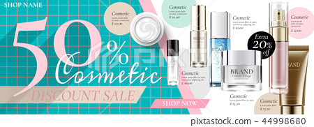 Cosmetic sale banner ads 44998680