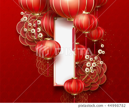 Chinese new year background 44998782