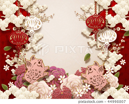 Chinese new year background 44998807