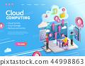 3d isometric cloud computing 44998863