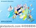 3d isometric cloud computing 44998896