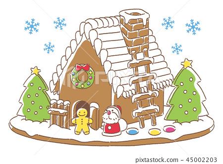 聖誕節糖果房子聖誕老人 45002203