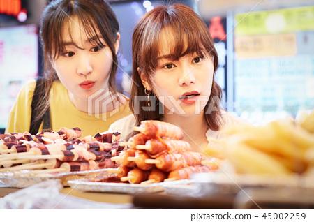 韓國女性旅遊街頭食品 45002259