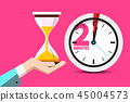 2 Minutes Hourglass Time Symbol 45004573