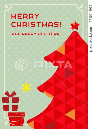 聖誕賀卡模板 45004998