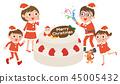 聖誕蛋糕和家庭 45005432