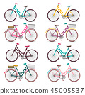 colorful,vector,bicycle 45005537