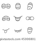 mouth tongue expression 45006801
