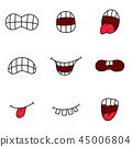 mouth tongue expression 45006804