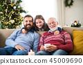christmas, senior, happy 45009690