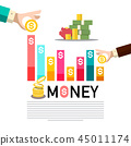Money Concept with Graph. Business Infographic 45011174