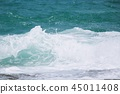 Sea Waves in ocean wave Splashing Ripple Water.  45011408