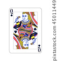 queen, poker, card 45011449