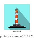 Lighthouse Vector Flat Design Symbol 45011571
