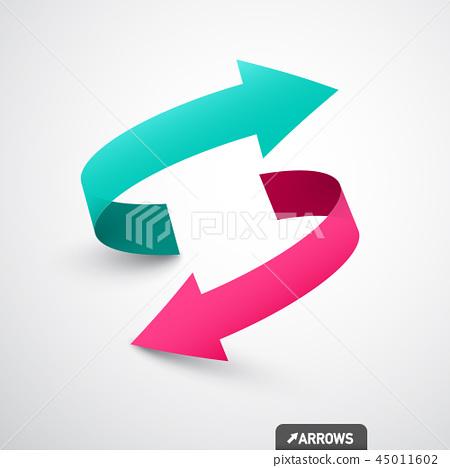Arrows Logo Concept. Double Arrow Symbol 45011602