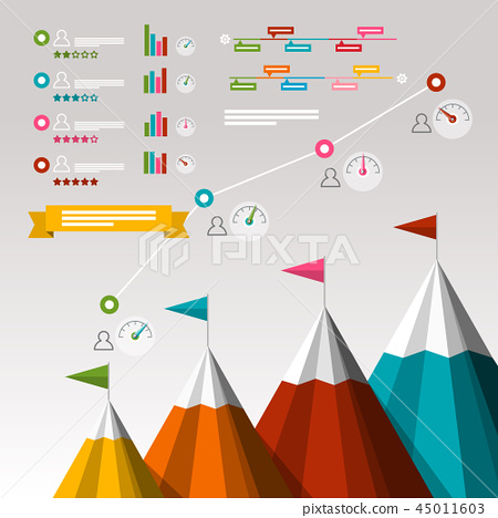 Timeline Business Infographics with Items 45011603