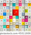 Arrows in Squares Vector Seamless Pattern 45011606