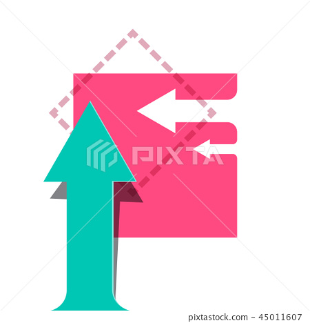 Vector Background with Arrows. Flat Design Arrows. 45011607