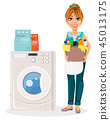 woman washing machine 45013175