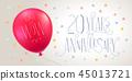 20, vector, anniversary 45013721