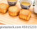 Delicious moon cake for Mid Autumn Festival 45015233