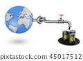 globe with oil pipe 45017512