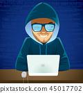 Hacker Laptop Cyber Criminal 45017702