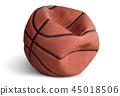 Old deflated basketball 45018506