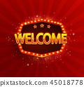 welcome, light, vector 45018778