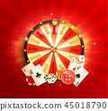 Welcome flyer for casino online. 45018790