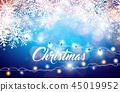 christmas background garland 45019952
