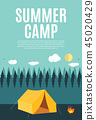 tent camping vector 45020429