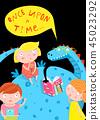 children, dragon, book 45023292