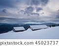 Harsh winter weather in the mountains 45023737