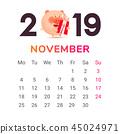 2019 猪 日历 45024971