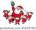 Santa and children 45028784
